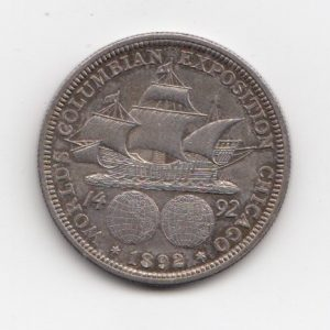 1892 US Columbian Chicago silver Half Dollar