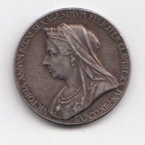 1897 Queen Victoria Jubilee Silver Medallion