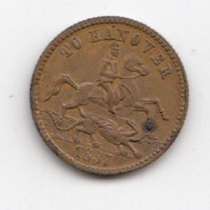 1837 Victoria Jeton Half Sovereign Token