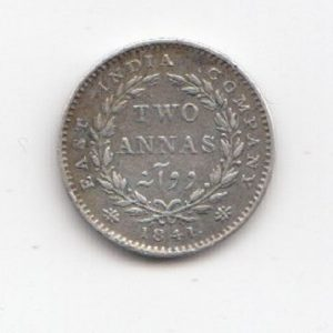 1841 Indian 2 Annas