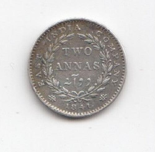 1841 Indian 2 Annas
