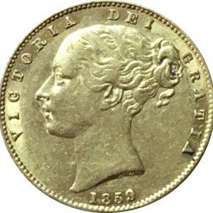 1859 Sovereign Obverse Ansell