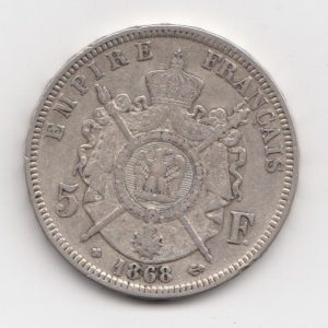 1868 French 5 Francs