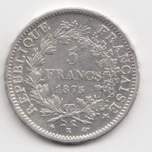1875 French 5 Francs