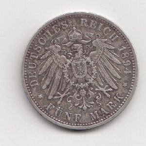 1894 German 5 Marks