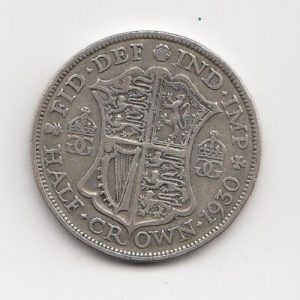 1930 King George V Half Crown