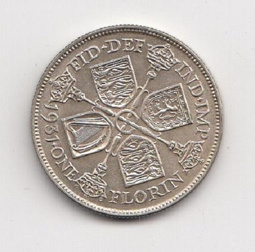 1931 King George V Silver Florin