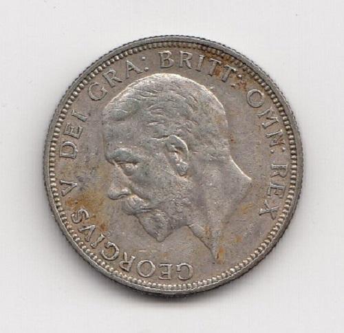 1931 King George V Silver Florin Obverse