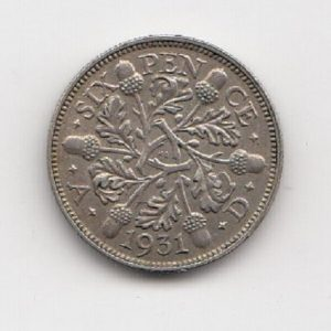 1931 King George V Sixpence