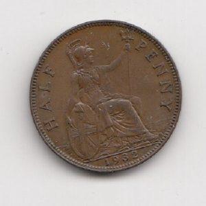 1932 King George V Half Penny