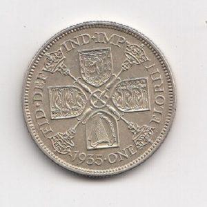 1935 King George V Silver Florin
