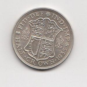 1935 King George V Silver Half Crown
