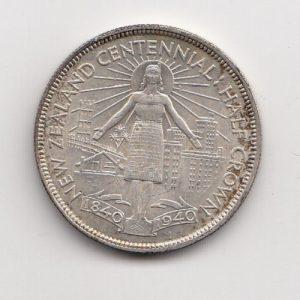 New Zealand Centennial Half Crown - George VI