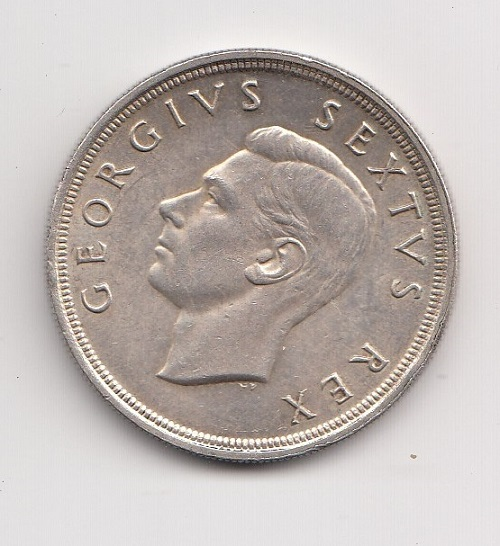 1948 South Africa Silver Five Shillings (Crown) Obverse