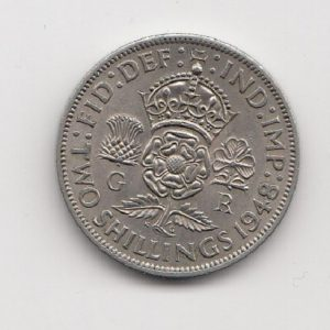 1948 Two Shillings - King George VI