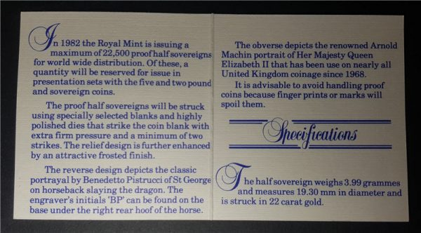 1982 Proof Half-Sovereign