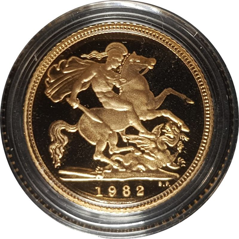 1982 Proof Half-Sovereign