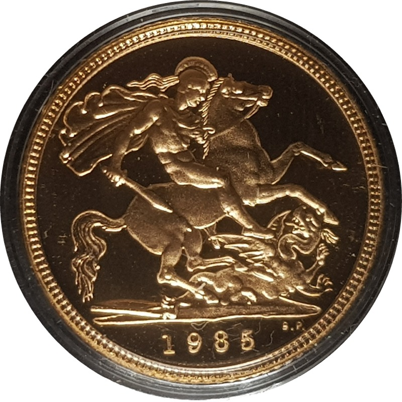 1985 Proof Half-Sovereign