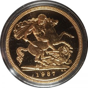 1987 Proof Half-Sovereign