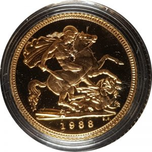 1988 Proof Half-Sovereign
