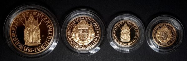 989 500th Anniversary of Gold Sovereign 4-Coin Set