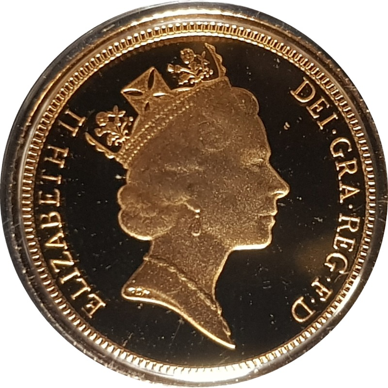 1990 Gold Proof Half-Sovereign