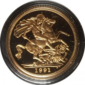 1991 Gold Proof Half-Sovereign