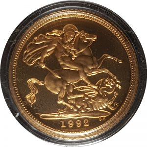 1992 Gold Proof Half-Sovereign