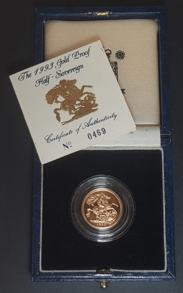1993 Gold Proof Half-Sovereign