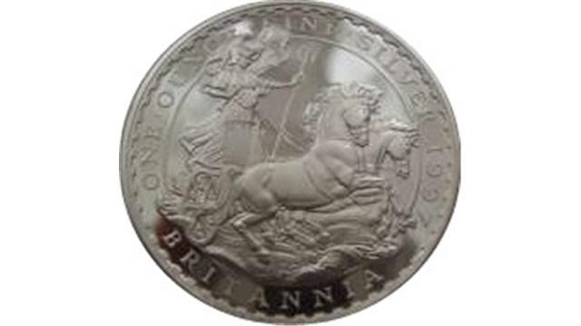 Silver Britannia Reverse