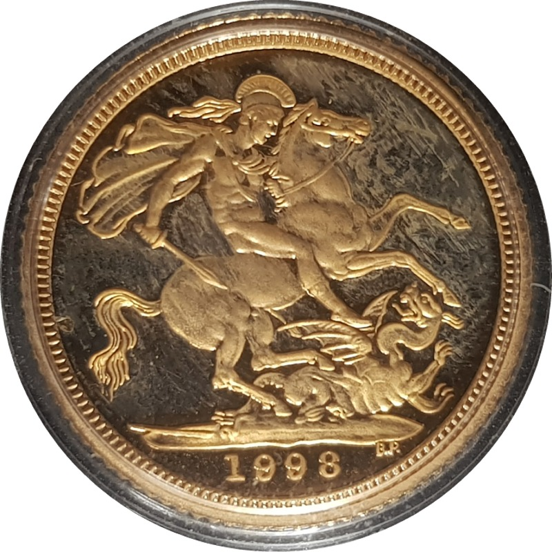 1998 Gold Proof Half-Sovereign