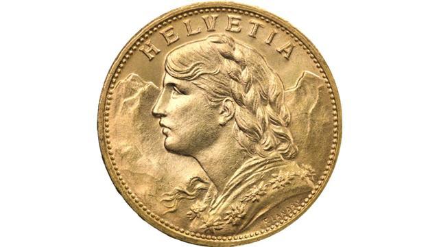 20 francs Vreneli Gold Coin