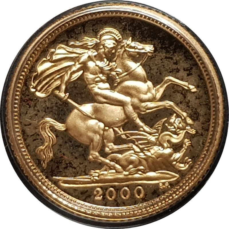 2000 Gold Proof Half-Sovereign