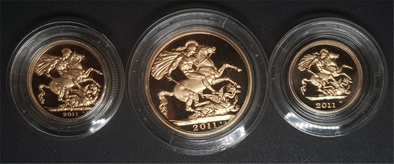 2011 Gold Proof Sovereign Three Coin Collection (Premium Set)