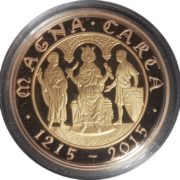 2015 Gold Two Pound Magna Carta Reverse