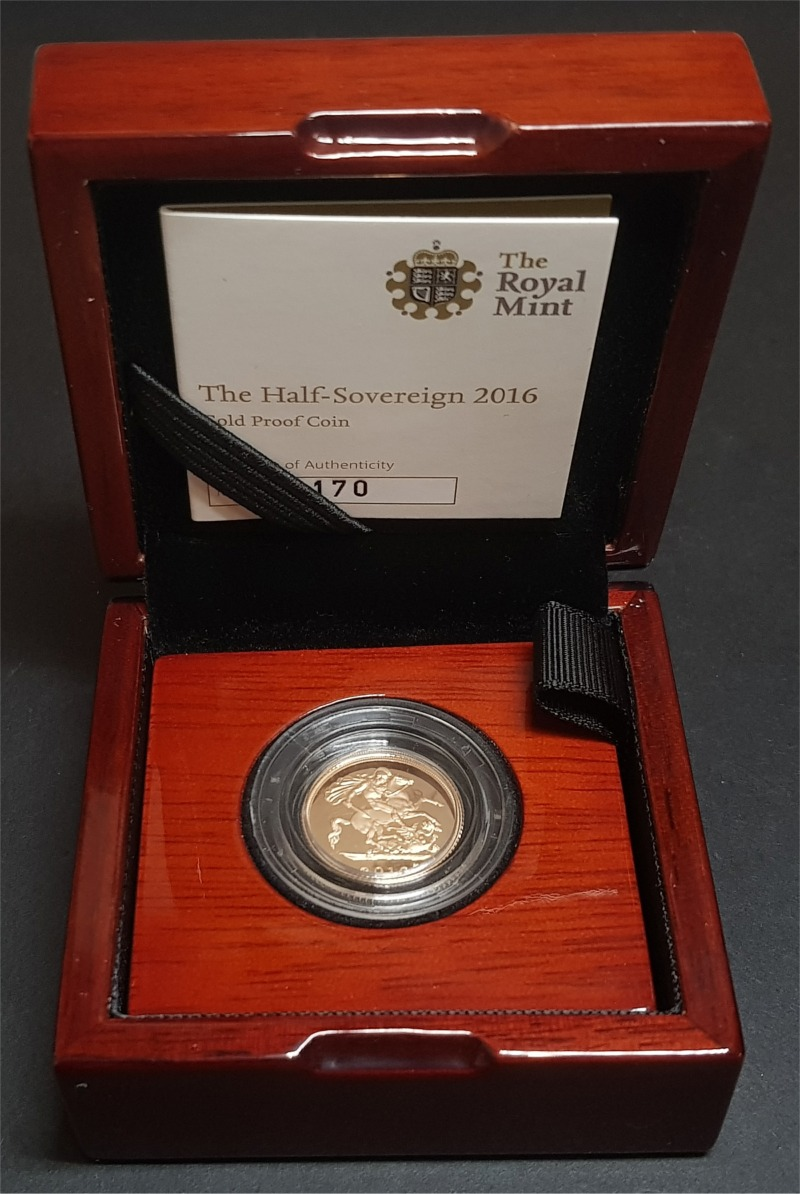 2016 Gold Proof Half-Sovereign
