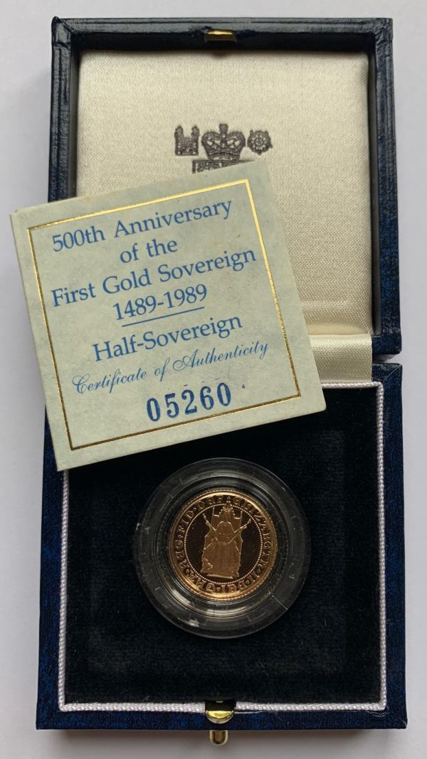 1989 Gold Proof Half Sovereign