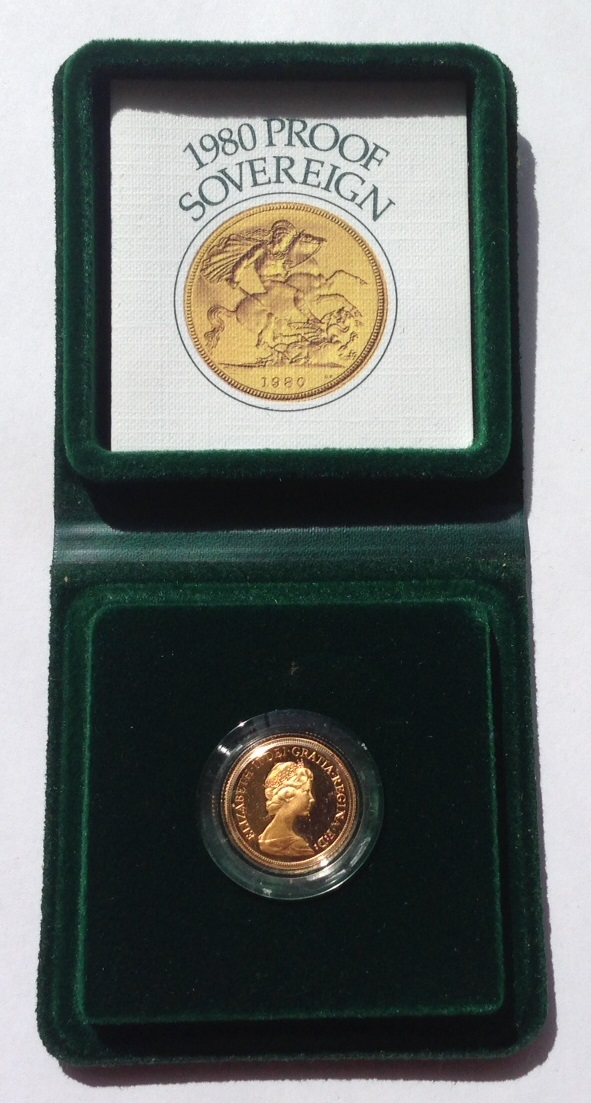 1980 Gold Proof Sovereign