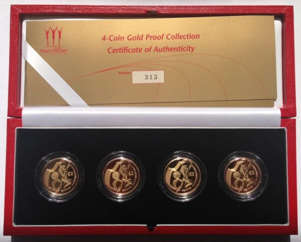 2002 Commonwealt Games Gold Proof Two Pound Set