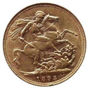 1893 London Sovereign