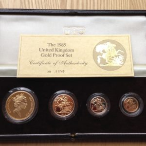1985 4 Coin Gold Proof Sovereign Set