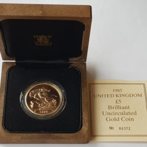 1985 Brilliant Uncirculated Gold Five Pounds