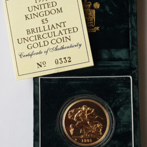 1991 Brilliant Uncirculated Gold Five Pounds