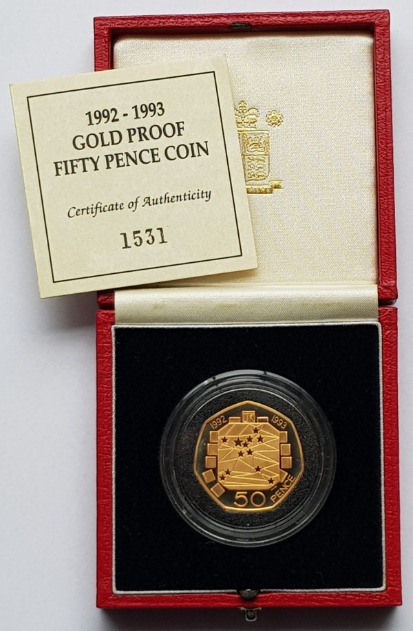 1992 EEC Gold Proof Fifty Pence