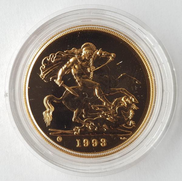 1993 Brilliant Uncirculated Five Pounds