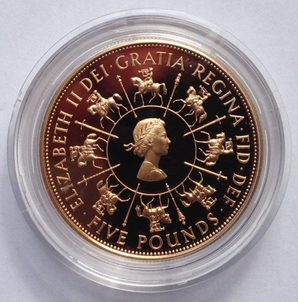 1993 Coronation Gold Proof Five Pounds
