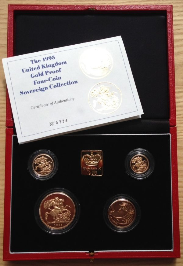 1995 4 Coin Gold Proof Sovereign Set