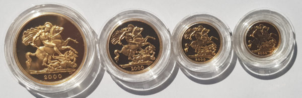 2000 4 Coin Gold Proof Sovereign Set