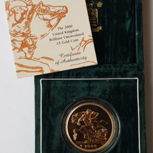 2000 Brilliant Uncirculated Gold Five Pounds