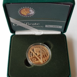 2001 Victorian Anniversary Gold Proof Five Pounds